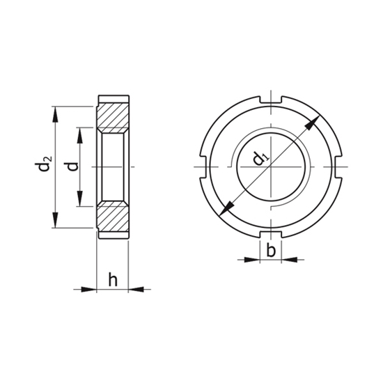 Picture of Slotted Round Nuts