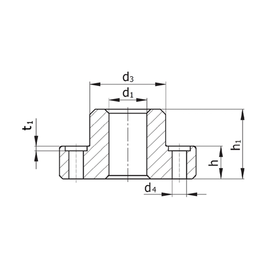 Picture of Guide Pillar Flange Model D131