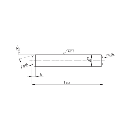 Picture of Dowel Pin Model D25